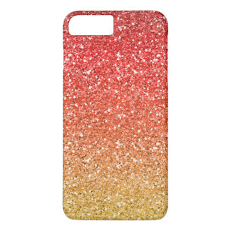 Fiery Ombre with Glitter Effect iPhone 7 Plus Case