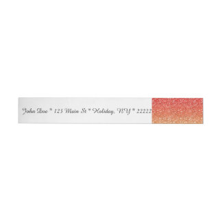 Fiery Ombre with Glitter Effect Wraparound Address Label