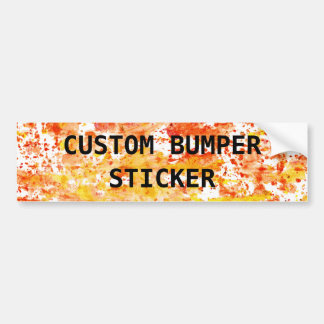 Fiery Orange and Yellow Mixed Media Background Bumper Sticker