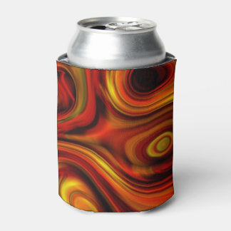Fiery Orange and Yellow Pattern Can Cooler