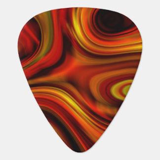 Fiery Orange and Yellow Pattern Guitar Pick