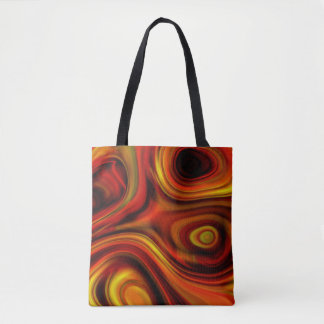 Fiery Orange and Yellow Pattern Tote Bag