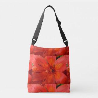 Fiery Orange & Red Lily II Crossbody Bag