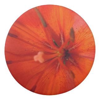 Fiery Orange & Red Lily II Eraser