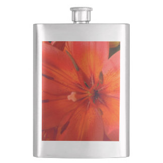 Fiery Orange & Red Lily II Flasks