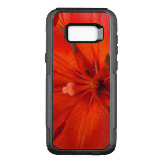 Fiery Orange & Red Lily II OtterBox Commuter Samsung Galaxy S8+ Case