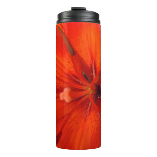 Fiery Orange & Red Lily II Thermal Tumbler