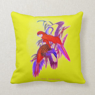Fiery Parakeet Cushion