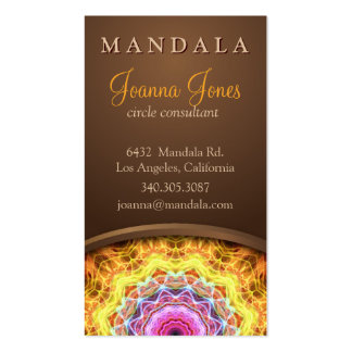Fiery Passion Holistic Mandala Pack Of Standard Business Cards