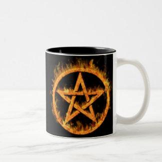 Fiery Pentagram Mug