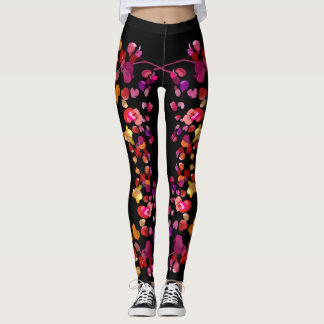Fiery Petals Leggings
