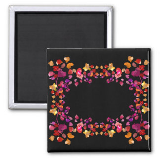 Fiery Petals Name Frame Magnet