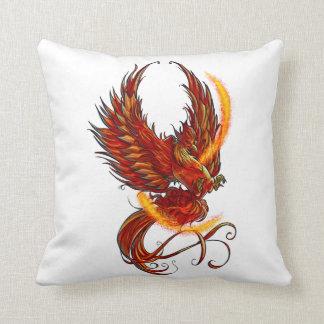 Fiery Phoenix Throw Pillow