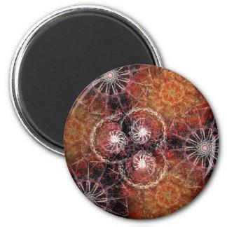 Fiery Pinwheel Magnet