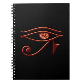 Fiery Ra Eye Spiral Notebook