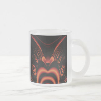 Fiery Red and Black Fractal. Coffee Mugs
