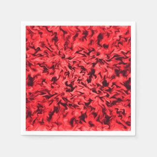 Fiery Red Disposable Serviette