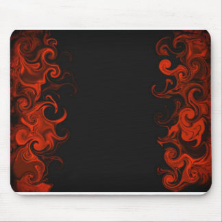 fiery red mouse pad