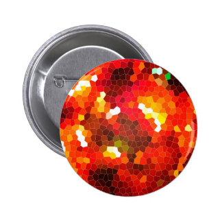 Fiery red stained glass pins