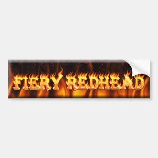 fiery redhead bumper sticker