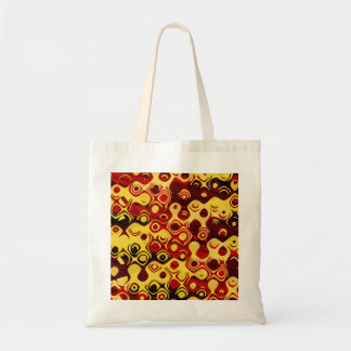 Fiery Retro Abstract Tote Bag