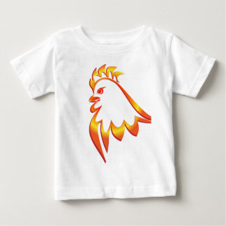 Fiery Rooster Baby T-Shirt
