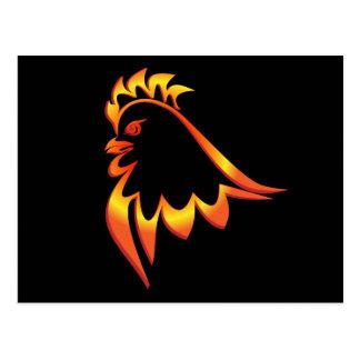 Fiery Rooster Postcard