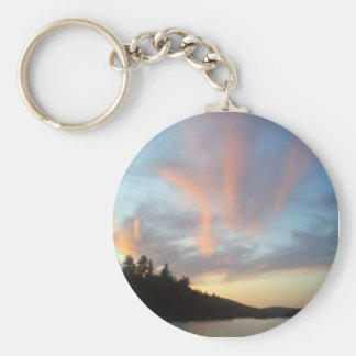 Fiery Sky Basic Round Button Key Ring