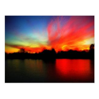 Fiery Sky Postcard