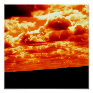 Fiery Sky Poster