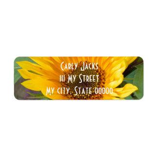 Fiery Sunflower Return Address Label