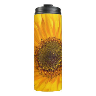 Fiery Sunflower Thermal Tumbler