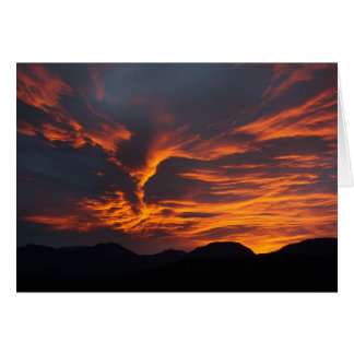 Fiery sunrise card