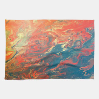 Fiery Sunset Abstract Kitchen/Hand Towel