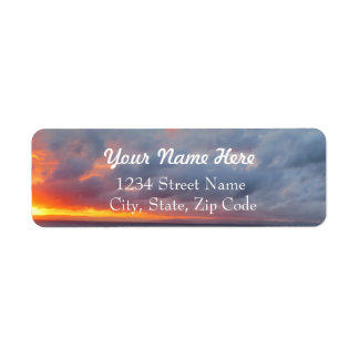 Fiery Sunset Address Labels