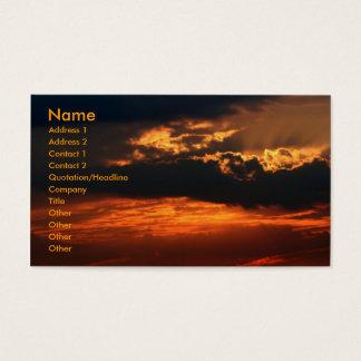 Fiery Sunset Business Card
