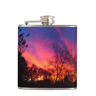Fiery Sunset Flask