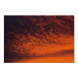 Fiery Sunset, Ohio Poster