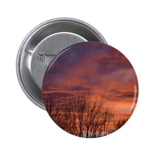 Fiery Sunset photo Pinback Buttons