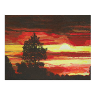 Fiery Sunset Postcard