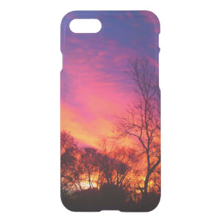 Fiery Sunset thru the Trees Iphone 7 Case