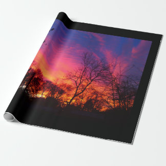 Fiery Sunset Wrapping Paper