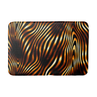 Fiery Tiger Print Bath Mat