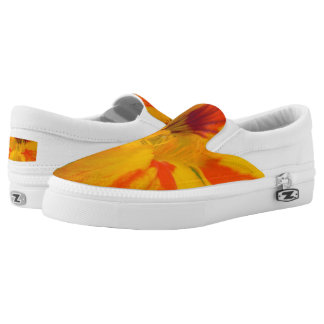 Fiery Tones Nasturtium Slip On Shoes