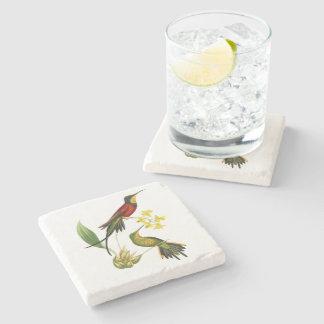 Fiery Topaz Hummingbird Stone Coaster Stone Beverage Coaster