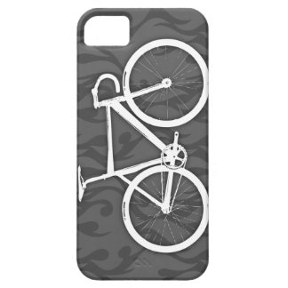 Fiery Track Bike - white on grey Barely There iPhone 5 Case