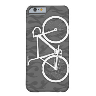Fiery Track Bike - white on grey Barely There iPhone 6 Case