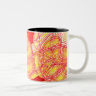 Fiery Two-Tone Coffee Mug
