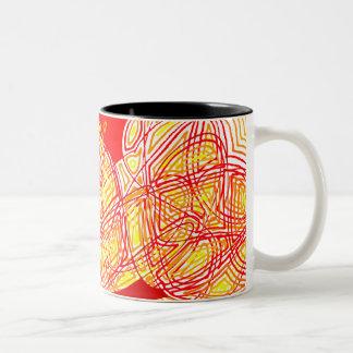 Fiery Two-Tone Mug