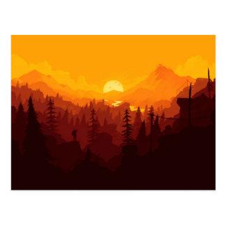 Fiery Valley Sunset Postcard
